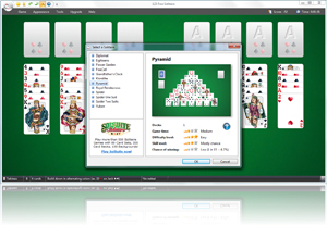 123 Free Solitaire - Select a Solitaire dialog box screenshot